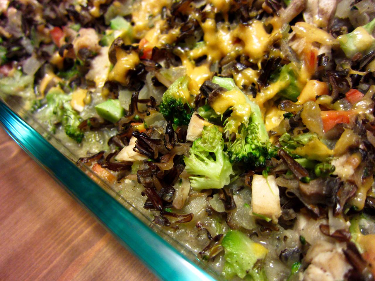 Broccoli Chicken Wild Rice Casserole