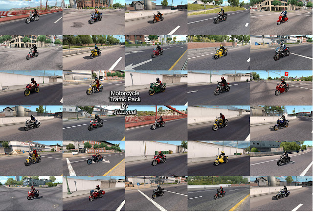 ats motorcycle traffic pack v2.3 screenshots 2