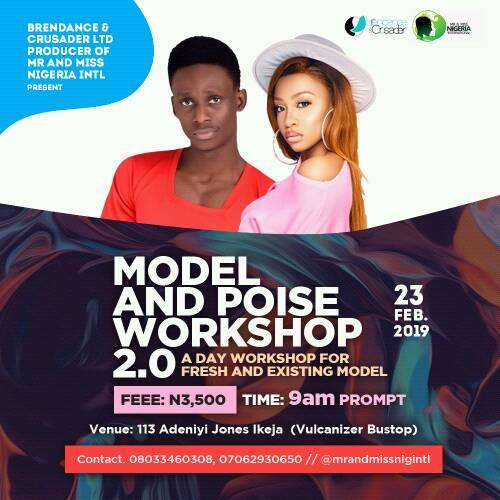 Modelling and Poise Master Class Workshop