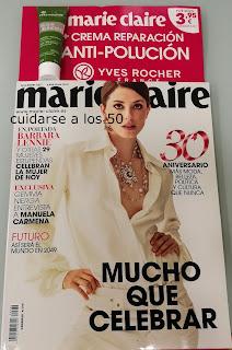 Revista marie claire con regalo crema yves rocher