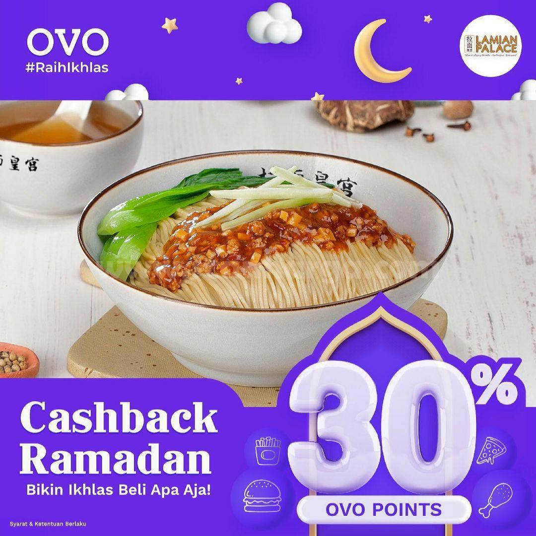 Lamian Palace Promo Ramadhan - Cashback 30% transaksi pakai OVO