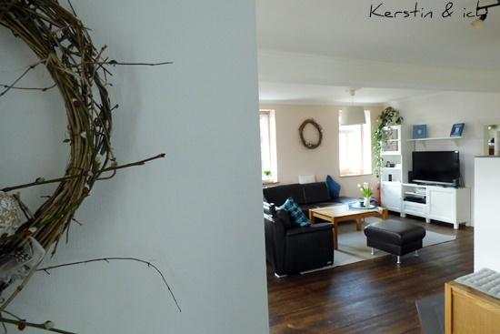 DIY Waldrebe Kranz binden Osterkranz
