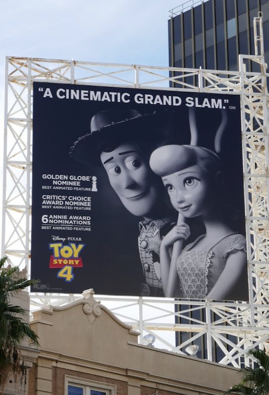 Toy Story 4 Golden Globe nominee billboard