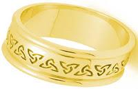 Celtic Wedding Bands - Trinity Knot