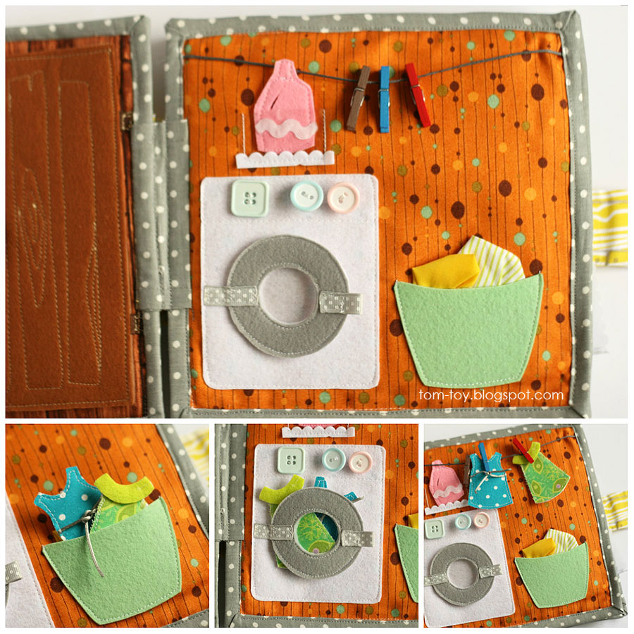 Cora's dollhouse, travel dollhouse, quiet busy book for girls, развивающая книжка, кукольный домик, стиральная машина