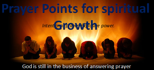 Prayer Points: Prayer Points for Spiritual Growth with Bible Verses
