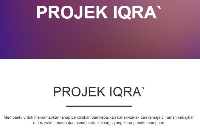 Jom Derma Secara Online | Projek Iqra'