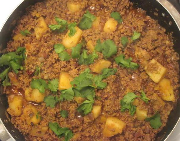 Aaloo Keema Asian recipe