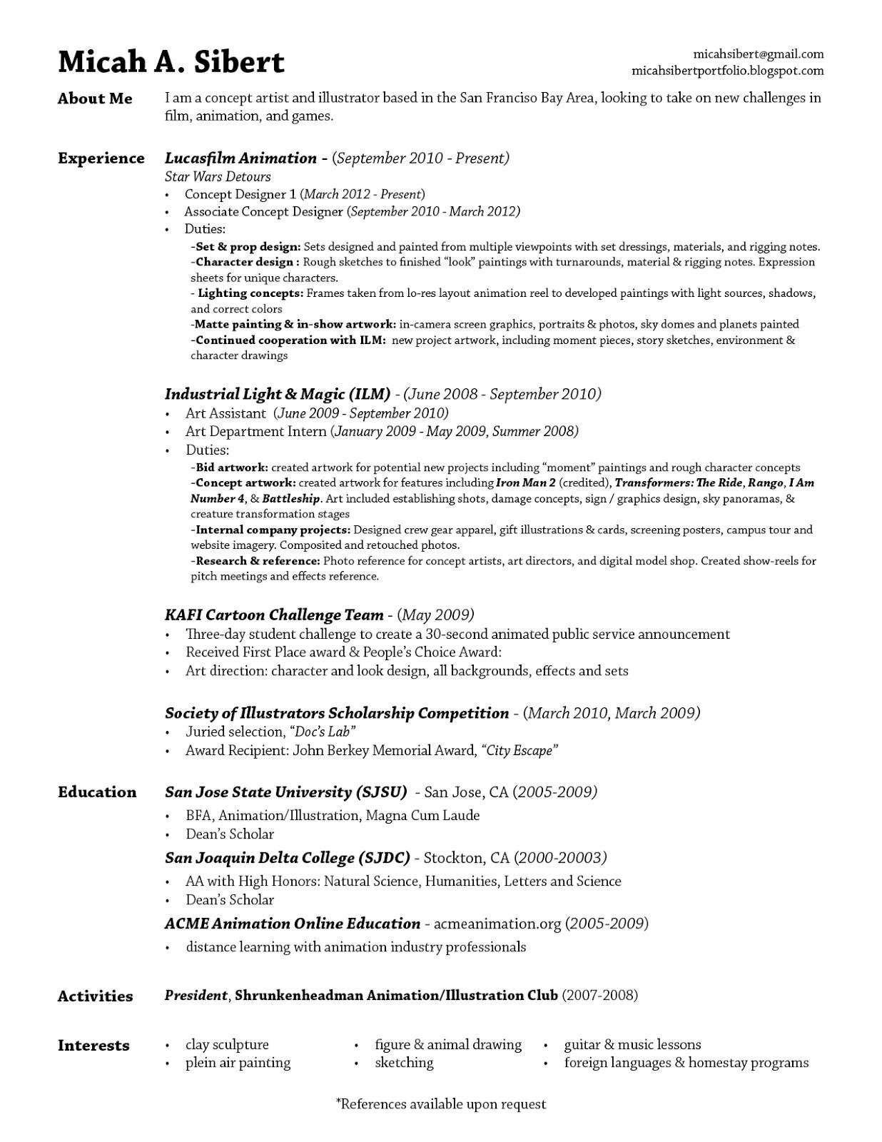 Resume Laude