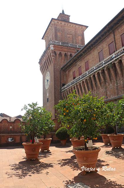 Jardín de los naranjos del Castillo Estense de Ferrara