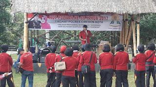 Senam Maumere Meriahkan Hari Jadi Polwan Dan Lalulintas 2017 Tingkat Polres Cirebon Kota