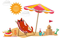 Summer Pet Parade Beach Graphic ©BionicBasil®