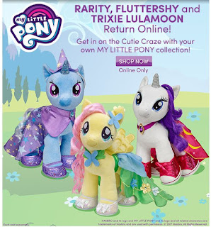 Trixie, Fluttershy & Rarity Back at Build-a-Bear