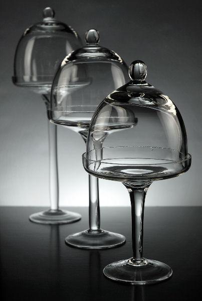Glass Dessert Stand Industrial Glass Steel Medium Desert