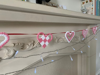 Hama bead heart bunting tutorial