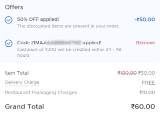 Zomato promo codes are not applicable on current order error solution