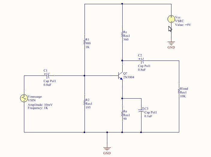 Complete Amplifer Design schematic
