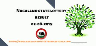 Nagaland State Lottery 02-08-2019