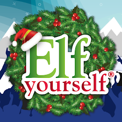 Wreath with Elf Yourself text