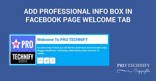 Info box Facebook page