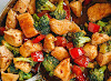 Healthy Chicken Stir-Fry with Broccoli and Bell Pepper