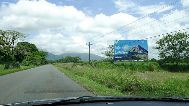 Arriving in La Fortuna
