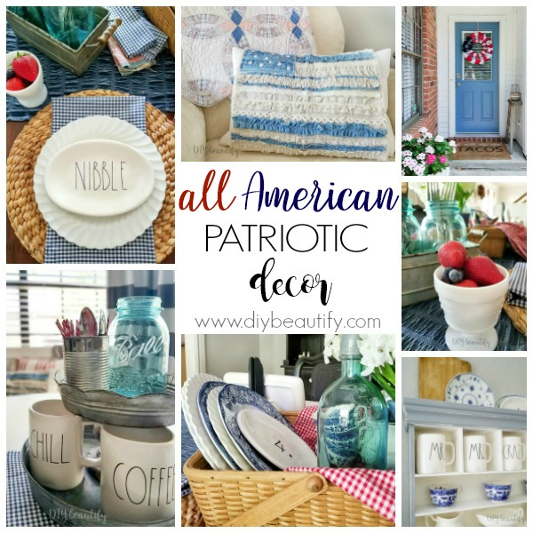 easy all-American patriotic decor