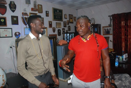 DSC 0936 - PHOTOS: May D visits Charlyboy To Seek blessings for Abuja show
