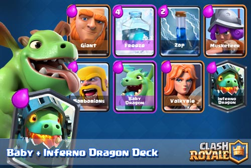 Strategi Deck Baby Inferno Dragon Arena 6 Clash Royale