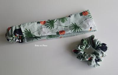 Bulles de Plume - couture facile bandeau chouchou