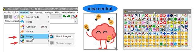 Agregando imágenes, iconos y emojis a nuestro mapa mental con Freeplane