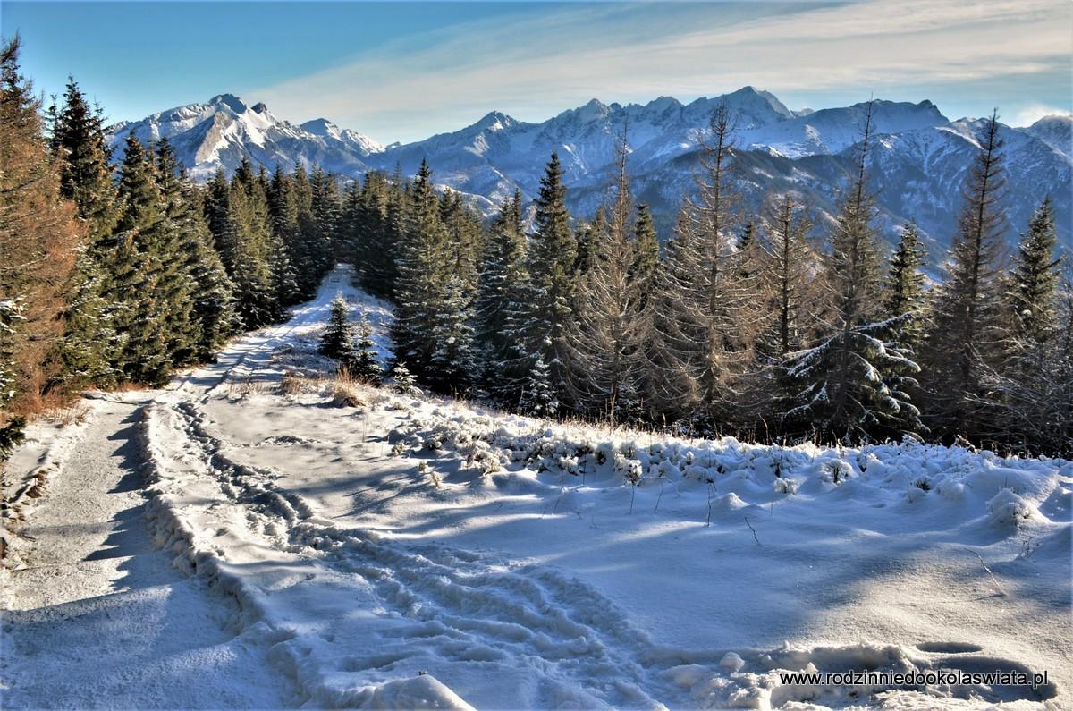 Gęsia Szyja z Wierch Porońca- Tatry zimą