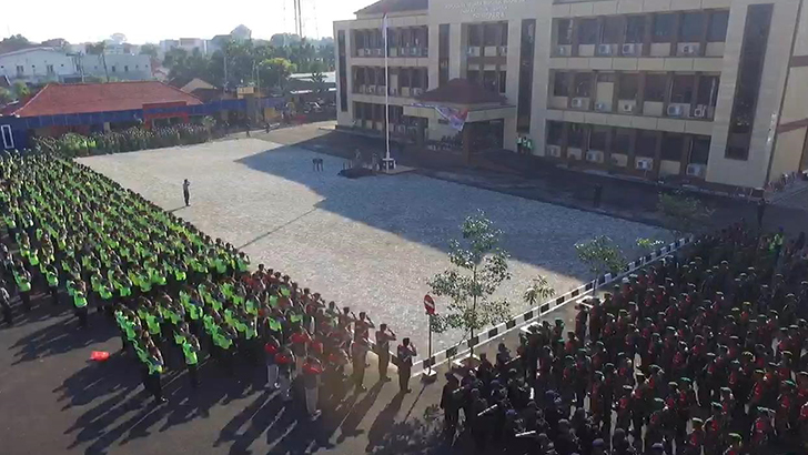Apel Pergeseran Pasukan Pengamanan Pemilu 2019 di Jepara