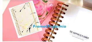 Logo Vinci gratis l'Agenda 17 mesi Bando fantasia Marble Blonde
