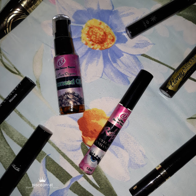 Real Plus eyelash enhancer and 100% Real Organic  Castorseed Oil from Thai White Skin Care Organics.