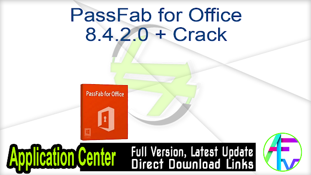 PassFab for Office 8.4.2.0 + Crack