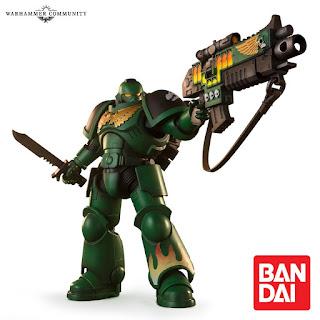 Bandai ha anunciado dos nuevas figuras articuladas a escala 7 ″ de Warhammer 40,000 Space Marines, en esta ocasión de los capítulos de los Imperial Fists y los Salamander.