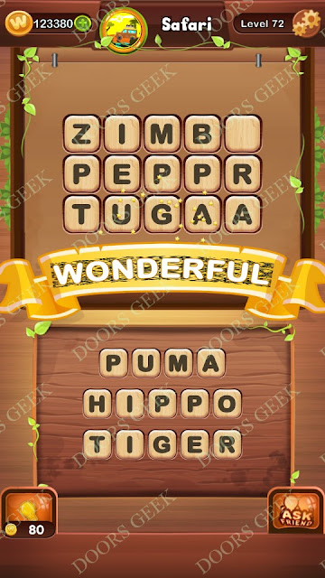 Word Bright Level 72 Answers, Cheats, Solutions, Walkthrough for android, iphone, ipad and ipod