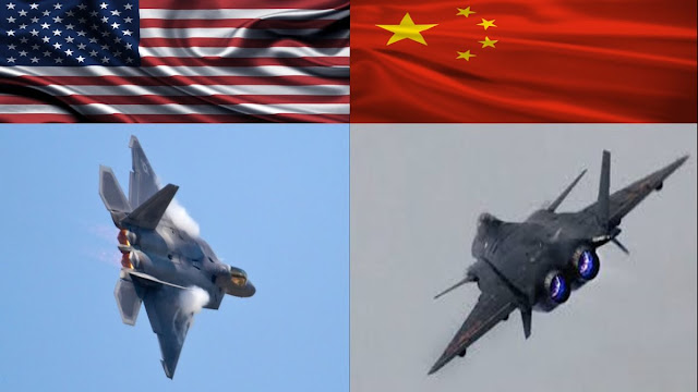 Chengdu J20 China vs F22 Raptor AS