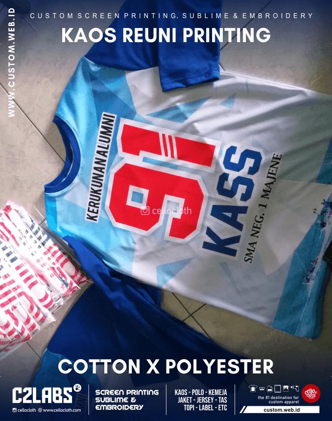 Bikin Custom Kaos Reuni Printing Full Color - Kaos Reuni Online Kirim ke Seluruh Indonesia