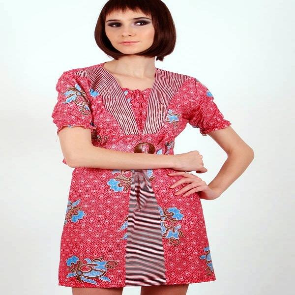 Atasan Barik Kombinasi: Model Baju Atasan Batik Terbaru Wanita Kombinasi Muslim