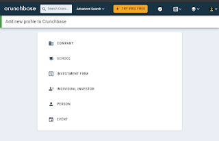 How to add profile of person on Crunchbase