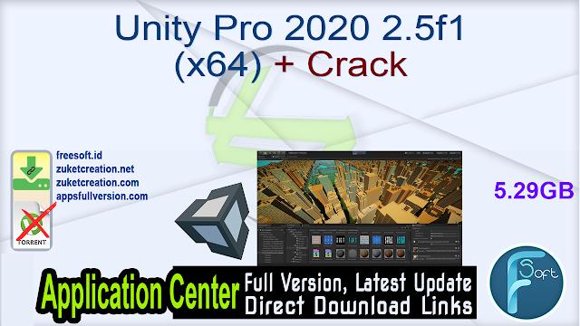 Unity Pro 2020 2.5f1 (x64) + Crack