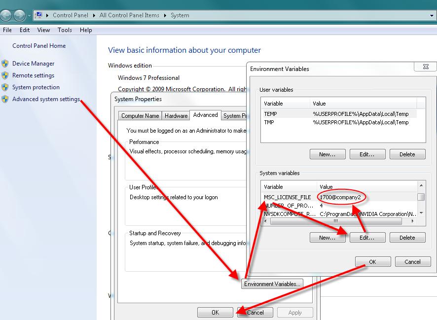 Make MSC Nastran Talk to Another License Server | MSC Nastran Beginner