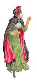 fashion antique women dress illustration