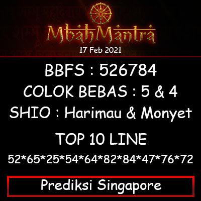 Prediksi Angka Singapore 17 Februari 2021