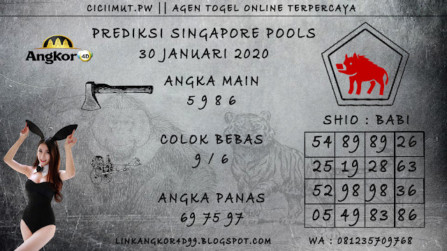 PREDIKSI SINGAPORE POOLS 30 JANUARI 2020