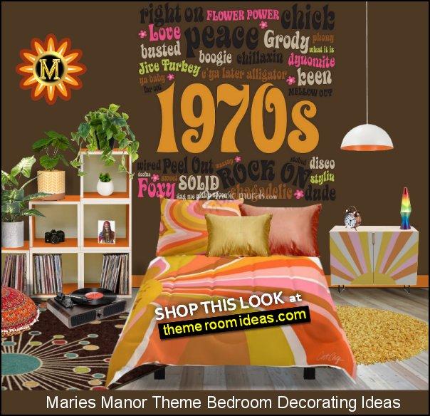 1970s Slang wallpaper mural  Retro Flowers wall decals   Hippie  Floor Pillow