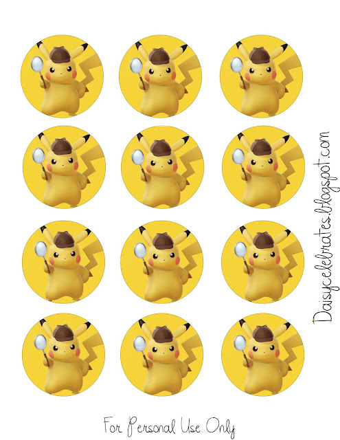 Pikachu Party Free Printable Mini Kit.