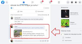 kembali link url yang diblokir Facebook